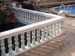 Marble balustrade machine cutting